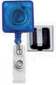 Square Badge Reels W/ Belt Clip.